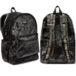 VS Pink Campus Backpack Black Velvet
